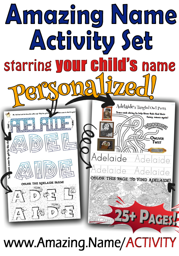 Activity Set featuring YOUR CHILD's Name!